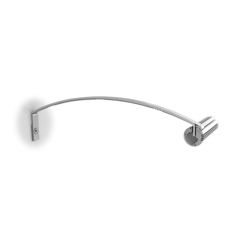Perfileria de aluminio quarkpro led sop4 al tube soporte pared para perfil al tube iluminacion - Iluminacion para cuadros ...