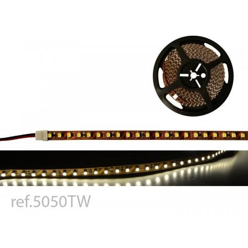 BOBINA LED FLEX 5m 120 LED/m 12V 3528 IP-20 BL.CALIDO