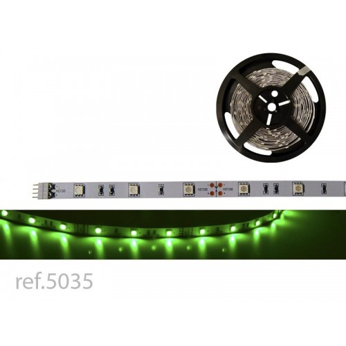 BOBINA LED FLEX 5m 30 LED/m 12V IP-20 VERDE