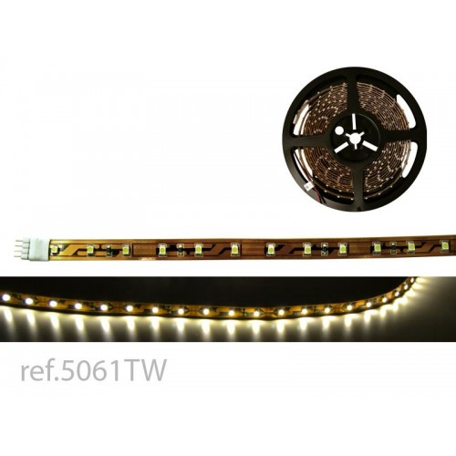 BOBINA LED FLEX 5m x 10mm 60 LED/m 3528 TW 12V IP-20 BL.CALIDO