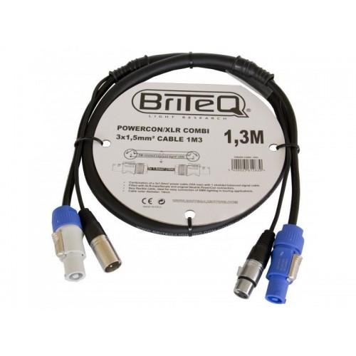 CABLE COMBI POWERCON / XLR 3x 1.5mm² 1,3M BRITEQ