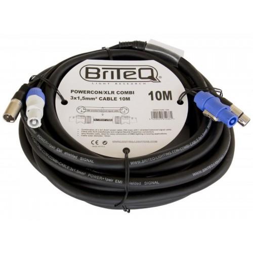 CABLE COMBI POWERCON / XLR 3X1,5mm 10M BRITEQ