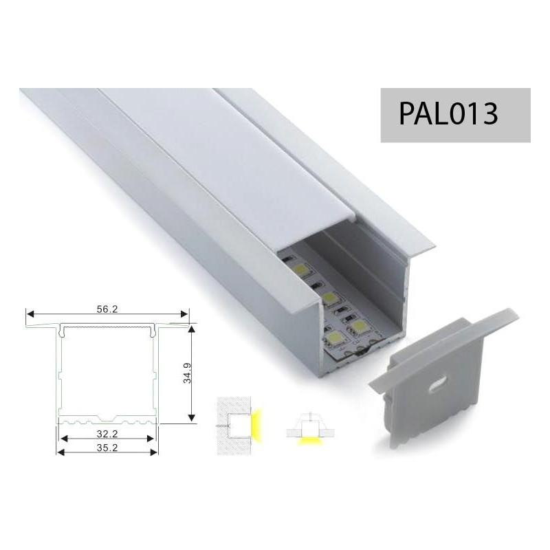 Perfileria de aluminio perfil aluminio empotrar tipo u - Tipos de perfiles de aluminio ...