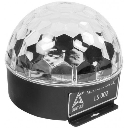EFECTO MINI LED BALL 360º DMX 6x3W RGB LIGHTSIDE