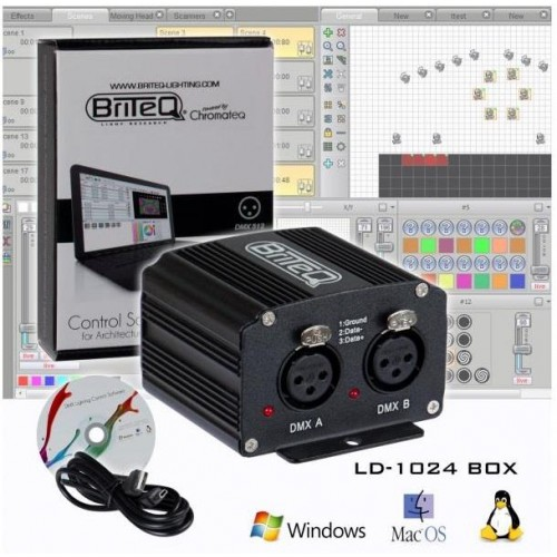 INTERFACE 1024 CANALES DMX BRITEQ