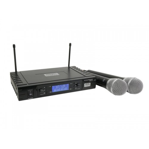 DOBLE MICROFONO MANO INALAMBRICO. UHF 2 QP-AUDIO