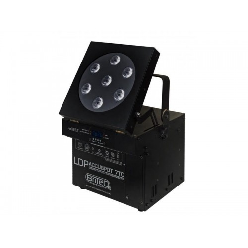LDP-ACCUSPOT FOCO BATERIA 7 RGB-LEDs (BATERIA NO INCLUIDA)