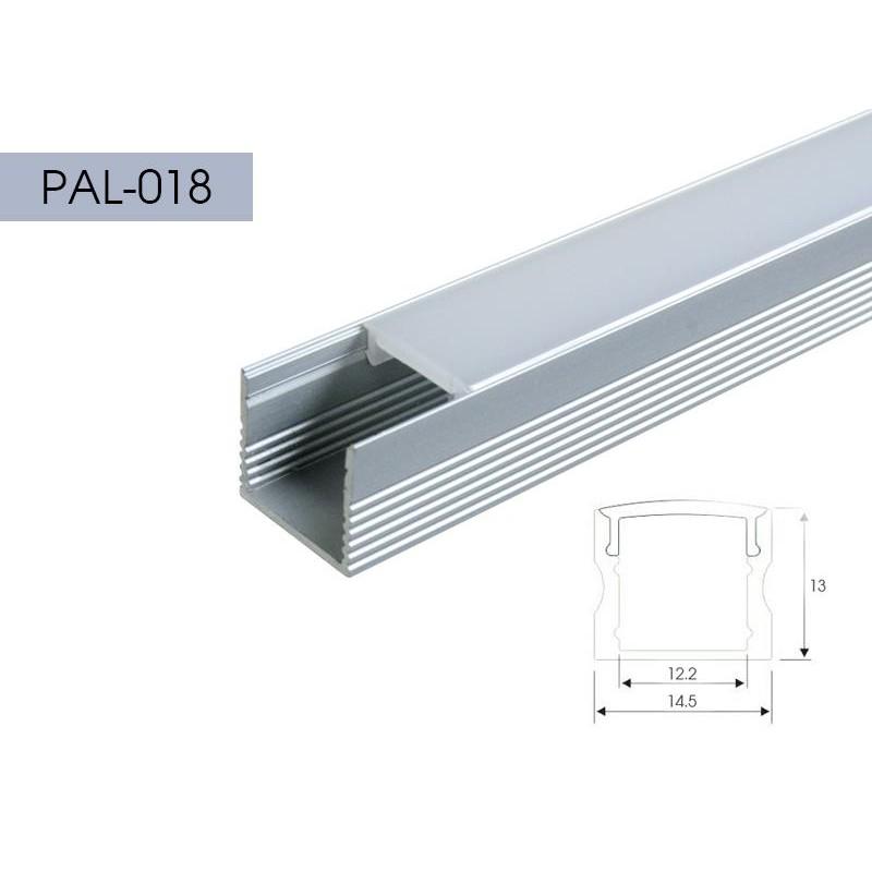 Perfileria aluminio eco quarkpro led perfil aluminio canal - Perfil aluminio u ...