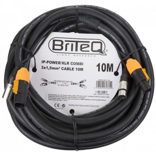 CABLE COMBI IP-POWER/XLR 3x 1.5mm² 10m BRITEQ